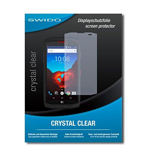 SWIDO Schutzfolie für Crosscall Trekker X3 [2 Stück] Kristall-Klar, Hoher Härtegrad, Schutz vor Öl, Staub & Kratzer/Glasfolie, Bildschirmschutz, Bildschirmschutzfolie, Panzerglas-Folie
