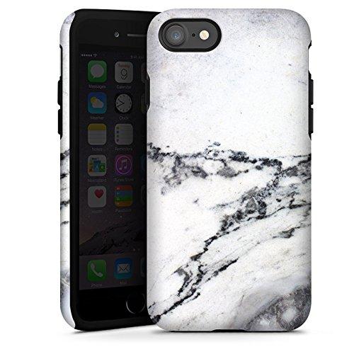 Apple iPhone X Silikon Hülle Case Schutzhülle Stein Marmor Marble Look Muster Tough Case glänzend