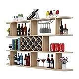 Subobo Estantería de Vino, Moderna Minimalista de Pared gabinete del Vino Vino Estante de la Pared Celular del Estante del Vino Rombo Restaurante de Pared Convierte el Vino en Arte