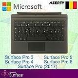 Microsoft Surface Pro Type Cover Clavier Belge/Belgique AZERTY Rétroéclairé Noir -...