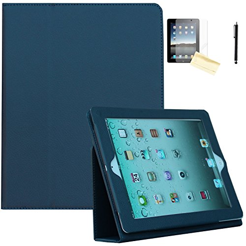 iPad Air Fall, iPad Air 2 Hülle - jytrend (R) Folio Ständer magnetisch Smart Cover für Apple iPad Air (2013 Version)/Air 2 (2014 Version) mit Auto Wake/Sleep, Marineblau - 4. Generation Gb 64 Ipad