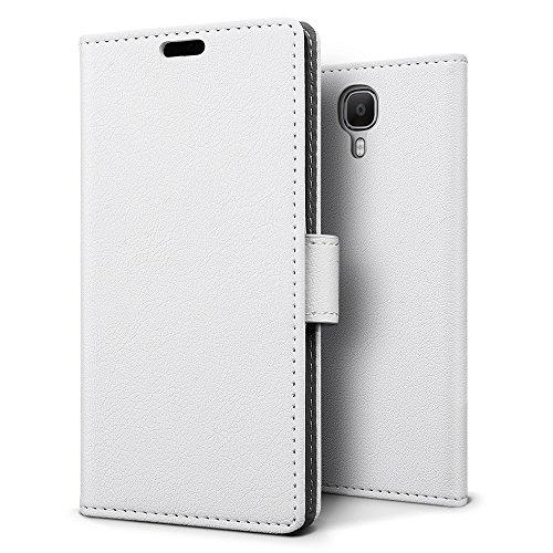 SLEO Doogee X9 Pro Hülle – Premium Luxuriös PU lederhülle [Vollständigen Schutz] [Kreditkartenfach] Flip Brieftasche Schutzhülle im Bookstyle für Doogee X9 Pro - Weiß