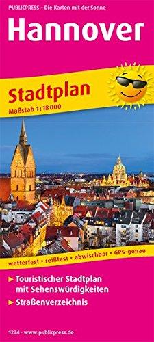 Hannover: Touristischer Stadtplan mit Sehenswürdigkeiten und Straßenverzeichnis. 1:18000 (Stadtplan / SP)