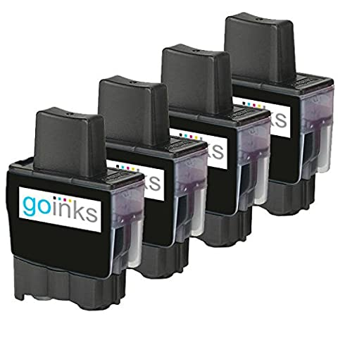 4 Noir Compatible Brother LC900BK Cartouche d'encre d'imprimante pour Brother