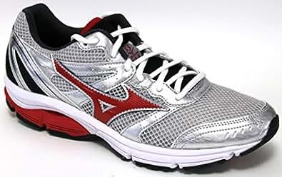 Chaussures Mizuno Wave Impetus 2 Argent-Rouge