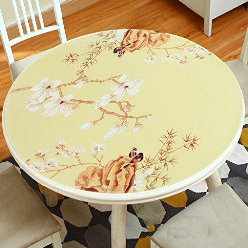 Nappes Plastique Rond Pad Table Tissu PVC Multi-taille Ménage Étanche Anti-hot Résistant à l'huile Haute Température Résistance Chambre Salon (taille : 100cm diameter)