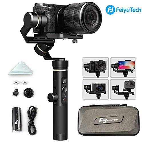 feiyutech G6Plus 3-Axis Splashproof Handheld Gimbal pour caméra sans Miroir/appareils Photo de Poche/GoPro/Smartphone, Charge utile 800G