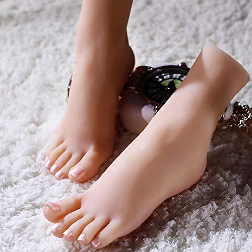 HEXEK Silikon-weiblicher Mannequin-Fuß, schießende Stützen-weiblicher Ausstellungsstand-Frauen Sandelholz-Schuh-Socken-kurzer Strumpf-Knöchel -