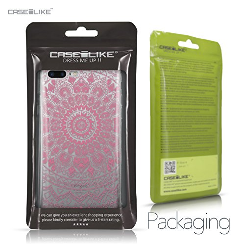 CASEiLIKE Coque iPhone 7 , Ultra Mince Crystal Case TPU Silicone Clair Transparente Exact Fit Soft Housse Etui Coque Pour iPhone 7 Dessin au trait indien 2062
