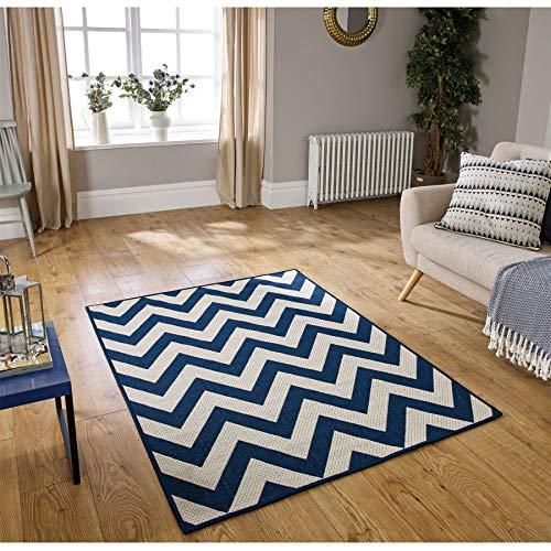 Oriental Weavers Teppich, 100% Polypropylen, blau, 160cm x 225cm (Prisma Garn)