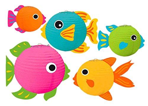 amscan 241092Fisch Laternen mit Add-Ons - Fisch-laterne