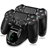 PS4 Controller Charger ECHTPower DualShock 4 Charger Dock Dual Charger with Charging Station for Sony Playstation PS4 / Slim/Pro Wireless with Charging Cables and Elegant LEDs (Green&Red LED)