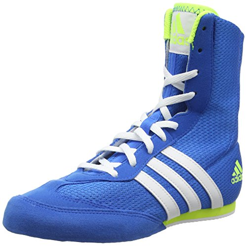Adidas Box Hog 2, Scarpe da Boxe Unisex - Adulto, Blu, 43 1/3 EU