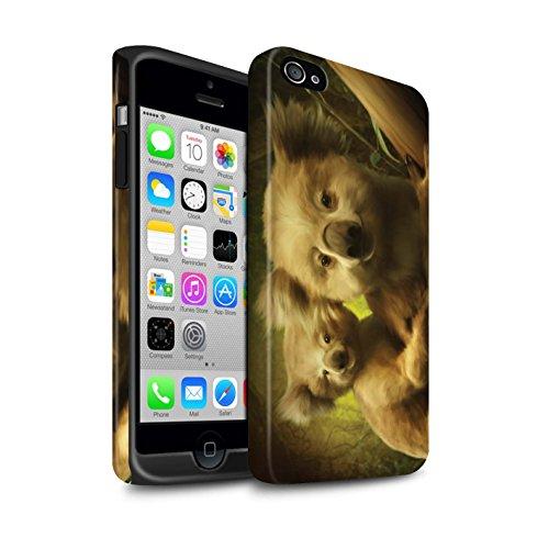 Officiel Elena Dudina Coque / Matte Robuste Antichoc Etui pour Apple iPhone 4/4S / Pack 16pcs Design / Les Animaux Collection Koalas/Escalade d'Arbres