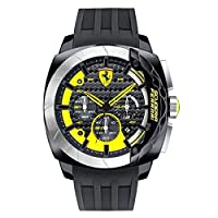 Reloj de pulsera Ferrari para hombre, AERODINAMICO, cronómetro, analógico, cuarzo, silicona, 0830206 de Ferrari