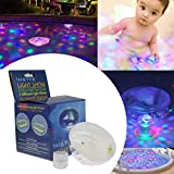 Lianqi Lampade impermeabili di nuoto a LED con 5 diversi modi di illuminazione, galleggianti sull'acqua per la piscina Show Disco Party Spa Bath Stagno