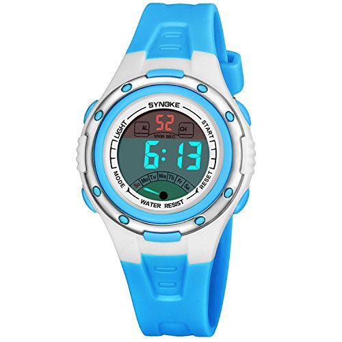 Kinder Digitaluhr Jungen Mädchen Sport Wasserdichte Uhren mit Alarm Erinnerung Stoppuhr Outdoor Kind Armbanduhr für Jugend Kinder (Radfahren Mädchen)