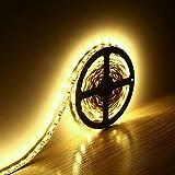 Minger 5mt 300 LEDs SMD 5050 LED Striscia Set Light 12V Non Impermeabili Ideale Per Giardini, Case, Cucina (Bianco Calda)