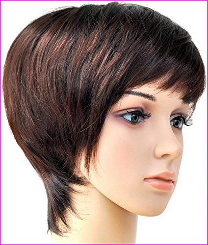 Forever Young Short Black Auburn Blend Ladies Boycut Style Wig by Forever Young -