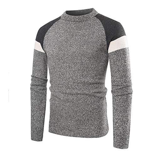 TWBB Sweater Pullover,Herren Warme Streifen Spleißen Sweatshirt Outwear Mantel Schlank Jacke Oberteile Tops