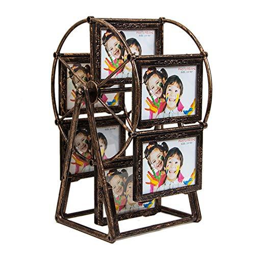Hemore Bilderrahmen, groß, drehbar, Riesenrad, 8,9 x 12,7 cm, Vintage-Stil, zum Selbermachen, als Geschenk für Neujahr -