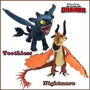 2 pi ces peluche furie nocturne dragons dreamworks how to - Peluche furie nocturne ...