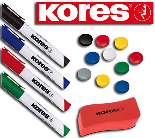 Kores WhiteboardMarker Set, 4 Marker (New Design Set Start, sortiert)