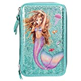 Depesche 10385 Federtasche 3 Fach, Fantasy Model Mermaid, türkis, bunt