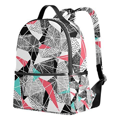 Ahomy Schulrucksäcke Geometrische Memphis Retro Dreiecke Rucksack Schultertaschen für Mädchen Jungen