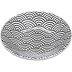 Tokio Design Studio Nippon schwarz Wave Platte 10x 2cm, schwarz/weiß