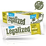 Maxsport Nutrition Raw Hemp Protein Bar 24 pack - 100% Natural Raw Vegan Glutenfree Superfood Hemp Protein Bars