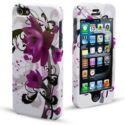 MadCase Cute Design Series Coque ultra mince pour Apple iPhone 5 et 5S  - Purple Flowers Purple Lillies
