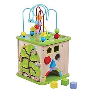 grande cube d 39 activit en bois par jumini b b s pu riculture. Black Bedroom Furniture Sets. Home Design Ideas