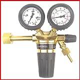 CO2 Argon Druckminderer 0 - 24 l/min preiswert und zugelassen in Deutschland - mit Sechskantschluss - DIN geprüft - Gase Dopp