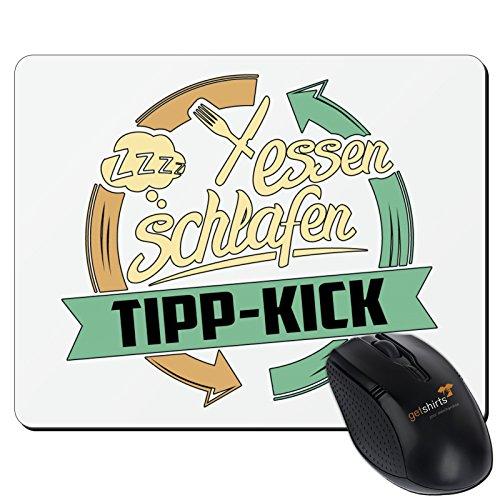 getshirts - RAHMENLOS® Geschenke - Mousepad - Sport Tipp-Kick - weiss uni