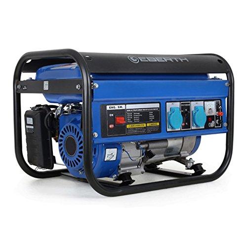 EBERTH 3000 Watt Générateur électrique (6,5 CV Moteur à essence 4 temps,...