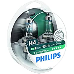 Philips X-treme Vision H4 Headlight Bulbs (Twin Pack)
