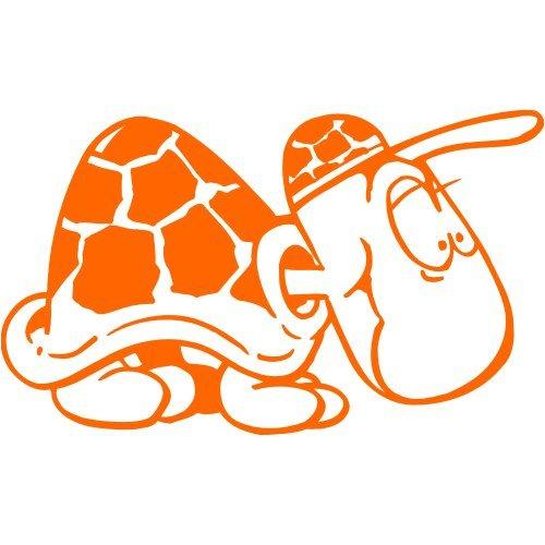 Schildkröte Aufkleber 001, 20 cm, orange