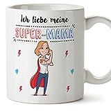 Tasse/Becher/Mug - Ich Liebe Meine Super-Mama - Schöne und lustige Kaffeetasse als Geschenkidee Zum Muttertag