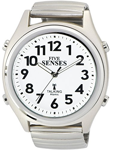 Deutsche Atomic Talking Watch. 5Sinne Unisex Sprechende Armbanduhr (1098G) - Clock Atomic Radio Digitale
