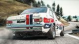 Ford Escort RS 1600 MK1 historischer Rennsport kurvige Landstraße Leinwand Poster bzw. FotoKarton Tapete Mousepad Acrylglas Aluminium BalsaHolz Aufkleber (Tapete selbstklebend, 99 x 55 cm)