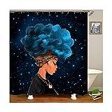 AnazoZ Anti-Schimmel Duschvorhang inkl. 12 Duschvorhangringe Frau Badewanne Vorhang Anti-Bakteriell Waschbar Wasserdicht PEVA für Badzimmer - Stil 1 165x180cm