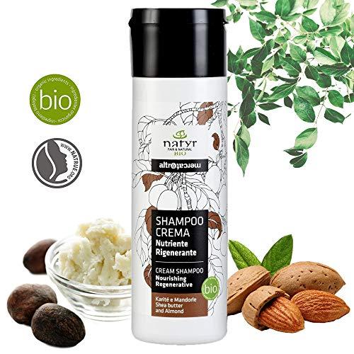 Natyr Bio Locken-Shampoo mit Sheabutter und Mandelöl 200 ml - die Nr.1 Lockenpflege für Naturlocken aus Italien - ohne Silikone und Parabene