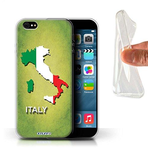Coque Gel TPU de Stuff4 / Coque pour Apple iPhone 5/5S / Australie Design / Drapeau Pays Collection Italie/Italien