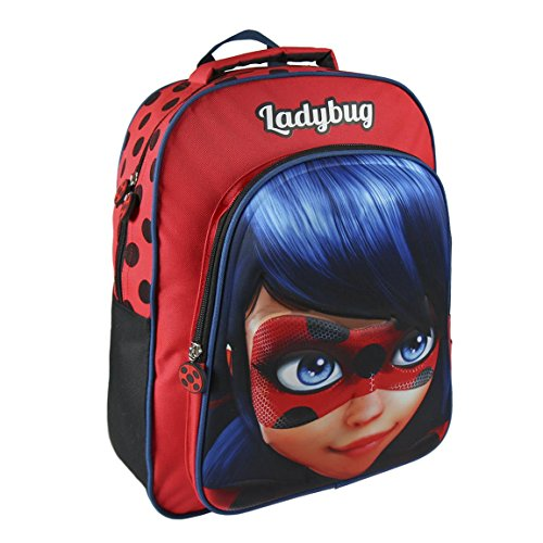 Sin Definir 3D Ladybug Mochila Infantil, 41 cm, Rojo