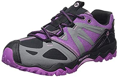 Merrell Grassbow Sport, Women's Velcro Low Rise Hiking Shoes - Black/Hyacinth, 6.5 UK