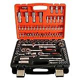 LXDTOOL Werkzeugsets,94-Teilige Hülse, Steckschlüssel-Auto-Reparatur-Mechaniker-Reparatursatz