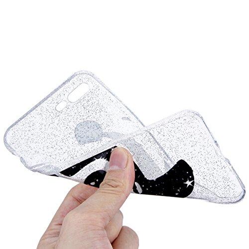 EUWLY iPhone 7 Plus/iPhone 8 Plus (5.5) Custodia Silicone, Case Cover per iPhone 7 Plus/iPhone 8 Plus (5.5), EUWLY Sparkly Bling Glitter Gel Silicone TPU Custodia Cover per iPhone 7 Plus/iPhone 8 Pl Bling Panda
