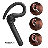 NENRENT S580 Bluetooth Headset, Longest Call time up to 12-15 hour Wireless Bluetooth Earpiece Earbud Headphone Earphone with Mic Hands-Free Calls for iPhone iPad Samsung Galaxy LG HTC Smartphones 1 Unit (Black)
