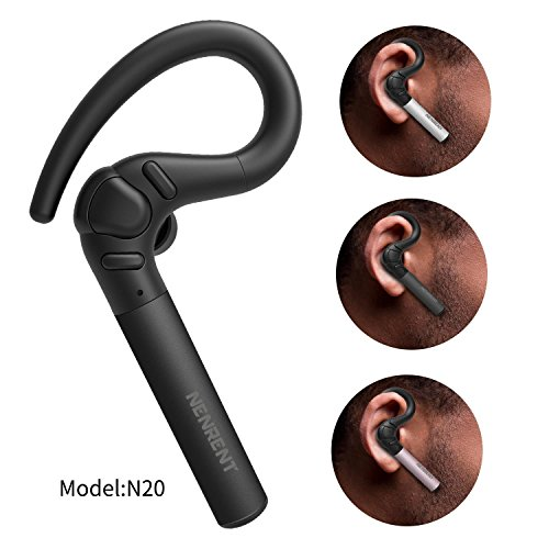 Auricular S580 conBluetooth Nenrent, más tiempo de conversación hasta 12–15horas, inalámbrico con Bluetooth y con micrófono para llamadas y manos libres; para iPhone, iPad Samsung Galaxy, LG, HTC y otros Smartphones